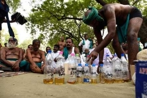 Horror! Desperate Farmers Drink Their Urine in Broad Daylight to Protest Major Drought (Photo)